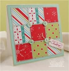 Just bought buttons, now to scrounge fabric and ribbon... voila - Xmas cards!