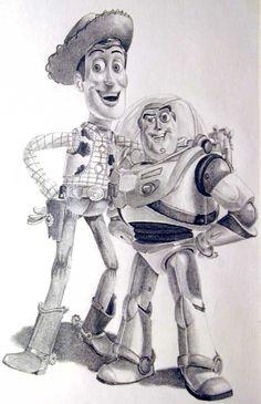 handrawn toy story art
