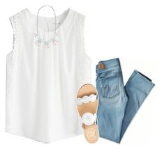 """{light and airy}"" by preppy-southern-girl-1-2-3 ❤ liked on Polyvore featuring American Eagle Outfitters, Chicwish, Forever New and Jack Rogers"