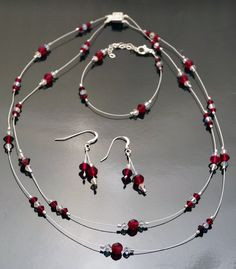 Hey, I found this really awesome Etsy listing at https://www.etsy.com/listing/117148412/floating-red-swarovski-crystal-jewelry