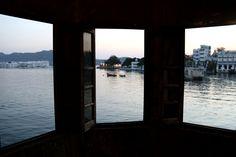 Three - three windows, three visions of the lake of Udaipur
