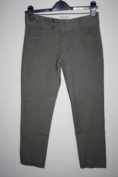 Banana Republic Denim Women's Fashion Designer Smart Trousers Khaki Stretch 0…