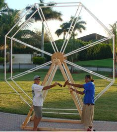 Pvc Ferris Wheel Plans | ferris wheel built 11-08