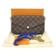 c08104222613 Louis Vuitton Felicie Damier Ebene 2018 Brown Coated Canvas Cross Body Bag  - Tradesy Louis Vuitton