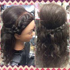 Inspiration by Hannah Kerney from Everett Community College Cosmetology. Cute volume hairstyle with braids  #volume #braid  @bloomdotcom