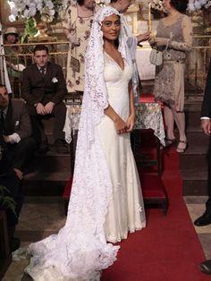 O vestido de noiva de Gabriela personagem de Juliana Paes | Foto: Divulgação