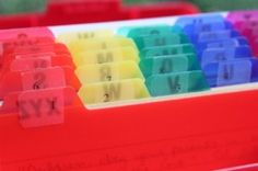 Scripture memorization help for kids - organize reviewing your verses by the day.