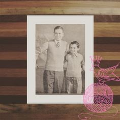 A nice father and son set.  ONLY 99 CENTS! #CORNELLKNITTINGPATTERN2838 #KINDLE #AMAZON #PRINCESSOFPATTERNS #KNITTINGPATTERN  #VINTAGE #RETRO #DIY #YARN #WOOL #KNITTING #MEN #PULLOVER #CHILDREN #BOYS #SWEATERS #VEST #BOY #KID #CHILD #MAN #SWEATER #TOP #CLOTHING #TOPS #VESTS #PULLOVERS