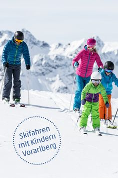 Pistenspaß für Familien in Vorarlberg: alle Tipps zu Skikursen und Skischulen, kinderfreundlichen Skigebieten, Geschwindigkeitsmessung und Snow-& Funparks. #ski #skiing #skifahren #familie #family #familienurlaub Sports, Travel, Winter Vacations, Skiing, Globe, Children, Tips, Hs Sports, Sport