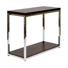 Wall Street Foyer Table in Espresso and White by Ave Six - 16779954 - Overstock - Great Deals on Office Star Products Coffee, Sofa & End Tables - Mobile
