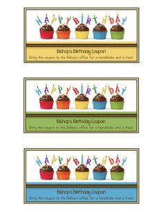 Look what I made :) Bishop's Birthday Coupons!