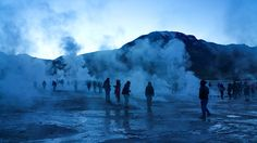Tatio Geyser, San Pedro de Atacama, Chile — by Allan Tipon. The geysers at El Tatio just before sunrise...a spectacular show of steam all over. A geological wonder to...