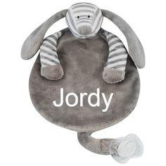 Hond grijs speendoek gestreept