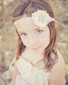 Romantic Vintage Couture Lace Flower Girl
