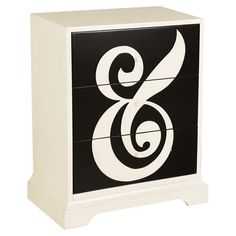Neat idea for a paint job on this chest of drawers.