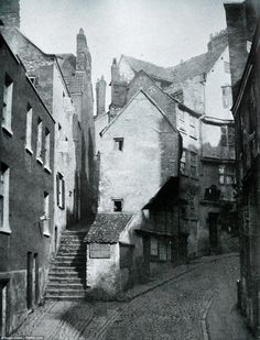 This fascinating picture shows Sleep Street in Bristol at the dawn of photography, believe...