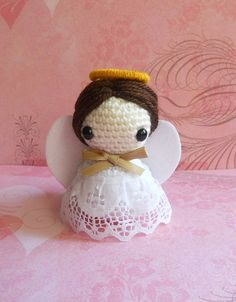 Crochet Amigurumi Angel - Miniature Doll Decoration