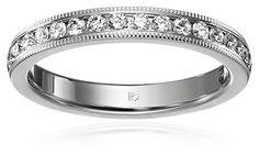 14k White Gold 3mm Channel Set Diamond Wedding Band with Vintage Milgrain (1/3 cttw, SI-1, G Color), Size 6 Amazon Collection http://www.amazon.com/dp/B004A15R80/ref=cm_sw_r_pi_dp_akjuwb0E66CR4