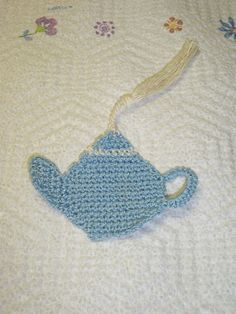 Scraps From My Needle: Teapot Bookmark Pattern