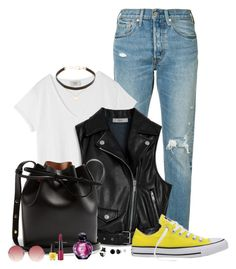 """""""Wild teens"""" by spells-and-skulls ❤ liked on Polyvore featuring Levi's, Hush, Mulberry, Converse, Mansur Gavriel, Linda Farrow, Rimmel, OPI, Christian Dior and Jennifer Zeuner"""