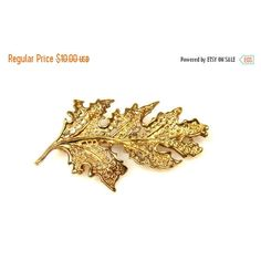 Holiday Sale Filigree Leaf Brooch, Leaf Jewelry, Gold Tone Brooch ($8.50) ❤ liked on Polyvore featuring jewelry and brooches