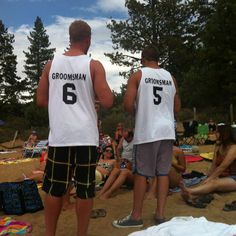 Great Idea for bachelor party! groomsmen shirts !