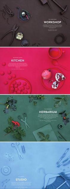 proximité des éléments comme workshop, kitchen , herbanium avec le texte s'attribuant a ce sujet