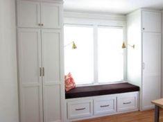Bedroom closet design - Ideas Bedroom Closet Design Built In Wardrobe Window Seats For 2019 bedroom Bedroom Windows, Bedroom Doors, Closet Bedroom, Bedroom Storage, Kids Bedroom, Wardrobe Closet, Bedroom Furniture, Master Bedroom, Childrens Bedroom