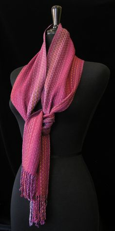 Handwoven scarf by Louise French. Photo by Aimee Radman