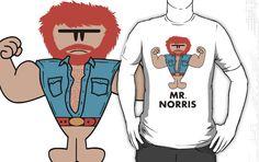 Tee on sale on: http://www.redbubble.com/people/tartuff/works/7690621-mr-norris?p=t-shirt
