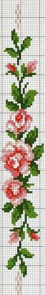 Rosebud cross stitch pattern