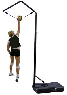 Spike Trainer Top selling, low-cost, high quality portable Volleyball Spike Trainer in the the US market Volleyball Training Equipment, Volleyball Gear, Volleyball Workouts, Volleyball Quotes, Coaching Volleyball, Basketball Tips, Basketball Coach, Volleyball Players, Volleyball Uniforms