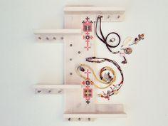 Scandinavian Design Jewelry Holder Organizer Cross van  •   Wohnaccessoires   •  Taschen  •  DIY Kits   •  op DaWanda.com