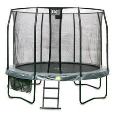 Trampoliini 3,7m turvaverkolla ja tikkailla! Exit Jumparena 3,7m trampoliinipaketti on hyvä ja tyylikkään näköinen valinta lapsille!