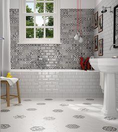 Harmony_BN_hexatileWhite Pattern Tiles