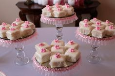 4 Piece Cupcake/Cake Stands with Ruffle by PadipaDesigns on Etsy, $99.00