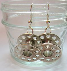 bobbin jewelry | earrings made from bobbins from a sewing machine i actually use ...