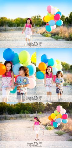 Birthday Balloon Session | San Antonio Children Photographer