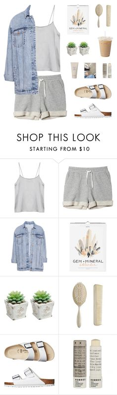 """I would fly to the moon and back if you'll be my baby"" by erika-cizmar ❤ liked on Polyvore featuring Monki, Pull&Bear, WALL, Zara, Birkenstock, Korres, Burberry, pastel, relax and summer2014"