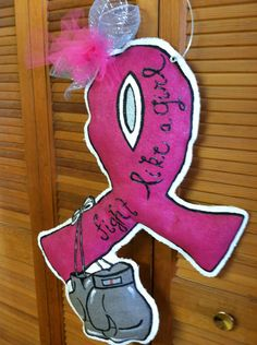 Fight Like a Girl Door Hanger by DecorateYourDoors on Etsy