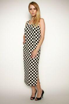 •#salediem #fashion #women'sfashion #maxi #longdress C. Luce Houndstooth Maxi