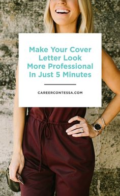 What if we told you there is a super easy way to make your cover letter stand out more? And it only takes 5 minutes.  | Click for the details on http://CareerContessa.com