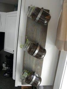 How To Make a Mason Jar Indoor Herb Garden