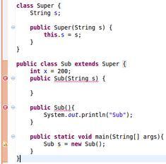 Constructors of Sub and Super Classes in Java?