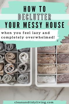 How to declutter your home quickly without overwhelming yourself. A step by step decluttering plan of action. Tips you'll wish you knew sooner and how to keep your house clutter-free. Declutter Your Home, Organizing Your Home, Home Organisation Tips, Messy House, Decluttering, Homemaking, Clean House, How Are You Feeling, Action