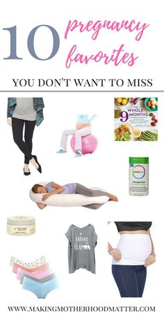 Check out my top 10 pregnancy favorites like prenatal vitamins, maternity clothes, books, preggo nutrition guide, and more.