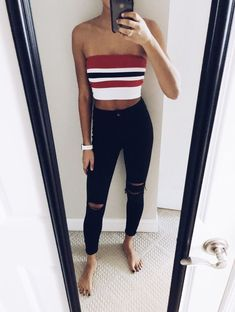 912f58a4ae 47 Best Tube top outfits images