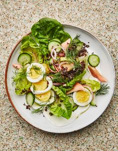 Breakfast Salad with Smoked Trout and Quinoa Recipe | Bon Appetit