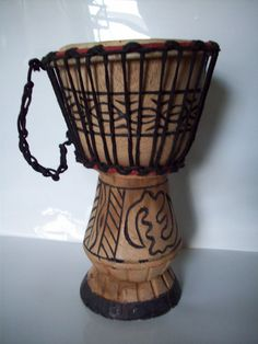 Hand carved African Djembe Drum by TheChucklePatch on Etsy