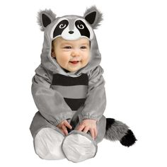 Toddler Baby Raccoon Costume 12-24 Months, Toddler Unisex, Grey